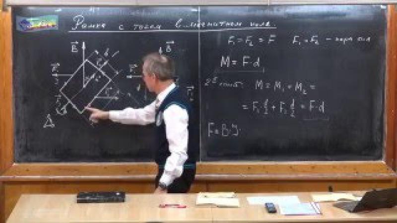 Урок 273. Рамка с током в магнитном поле » Freewka.com - Смотреть онлайн в хорощем качестве