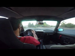 Gopro Roll Bar mount test BMW E30 325i ITB Donuts 1080p 60fps