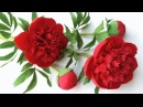 ABC TV How To Make Red Charm Peony Paper Flower From Crepe Paper Craft Tutorial