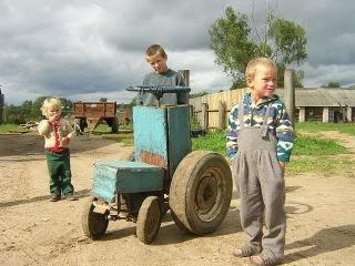 Шоу тракторов самоделок Прикольные трактора Show of tractors of homemade products LUCKY