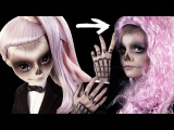 Я ЗОМБИ Гага на HALLOWEEN!  МАКИЯЖ Хэллоуин  Make-up Tutorial ZOMBY GAGA