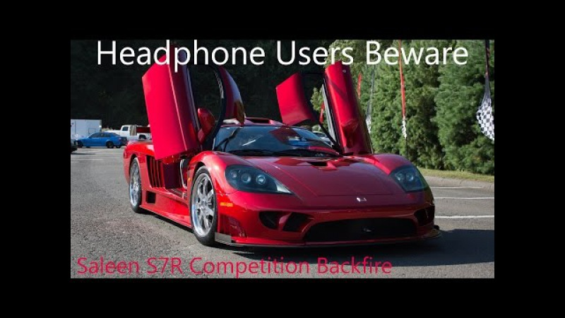 Saleen S7R Competition Backfire Startup