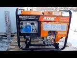 Запуск дизельного генератора SKAT в -18C