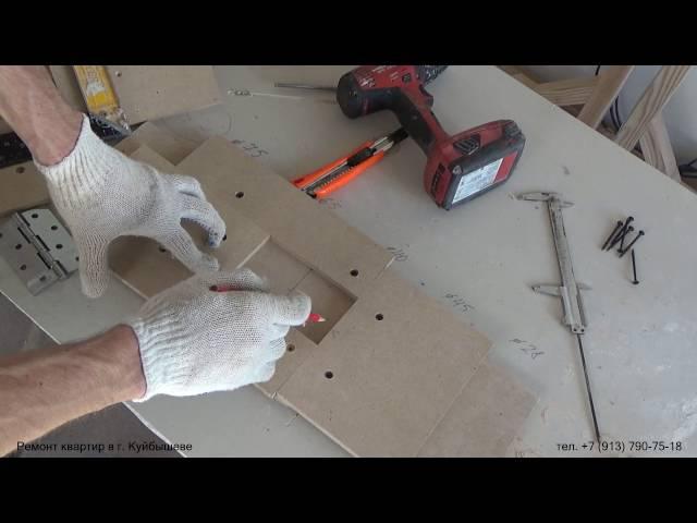Самодельный шаблон для врезки дверных петель ручным фрезером Изготовление Фре смотреть онлайн без регистрации