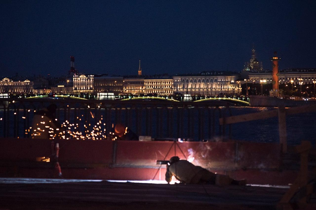 #tuchkovbridge #vasilyevskyisland #ремонтмоста #новостиспб #новостипетербурга #городнаневе #spbnews #russianews #runews