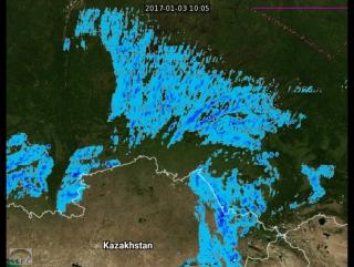 Обильные осадки в западной Сибири в текущее время
