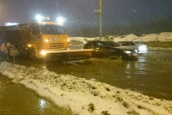 В Мурманске случился потоп