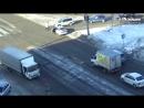 Наезд на пешехода. ДТП Бийск 23.02.17 (Barnaul22)