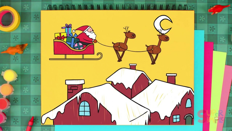 How To Draw Santa (Как нарисовать Санта Клауса)