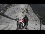 Пешие прогулки по холму Хаф-Доум в Национальном парке Йосемити, США в 4K (Ультра HD)