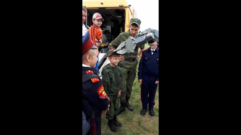 Экскурсия кадетов казачьей кадетской школы ОЗСКО на МАКС 2017