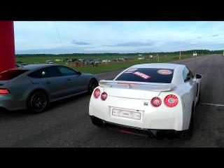 Audi RS7 VS Nissan GTR R35 Драг Битва Кострома 2017