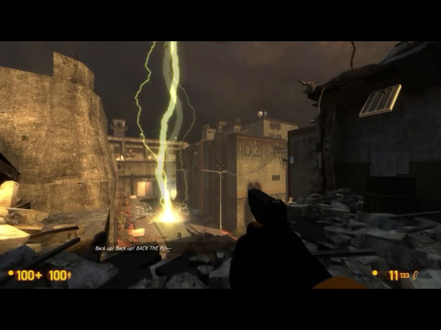 Black Mesa Enemy air Tank destruction Scene Back up BACK UP BACK THE FU