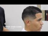 low skin fade clipper over comb