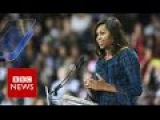 Michelle Obama takes on Donald Trump - BBC News