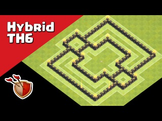 Clash of Clans Town Hall 6 (CoC TH6) Hybrid Base 2016 | Speed Build