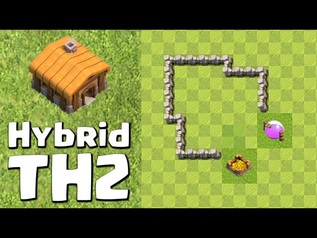 Clash of Clans Town Hall 2 Hybrid (CoC TH2) Base | BEST Hybrid Base Layout Defense Strategy