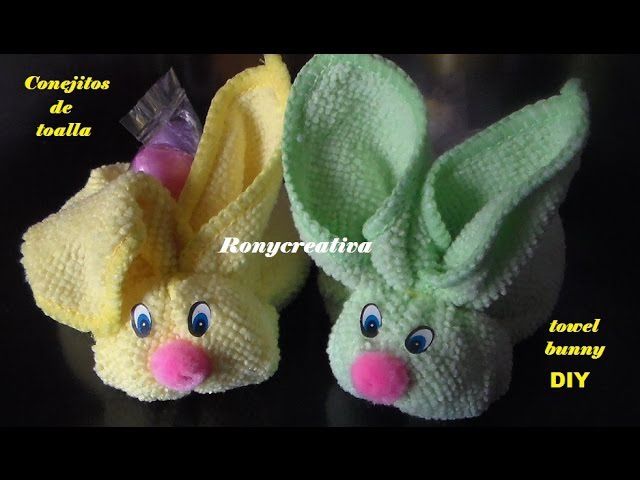 Diy Baby Shower towel BUNNY conejitos de toalla Ronycreativa English Channel