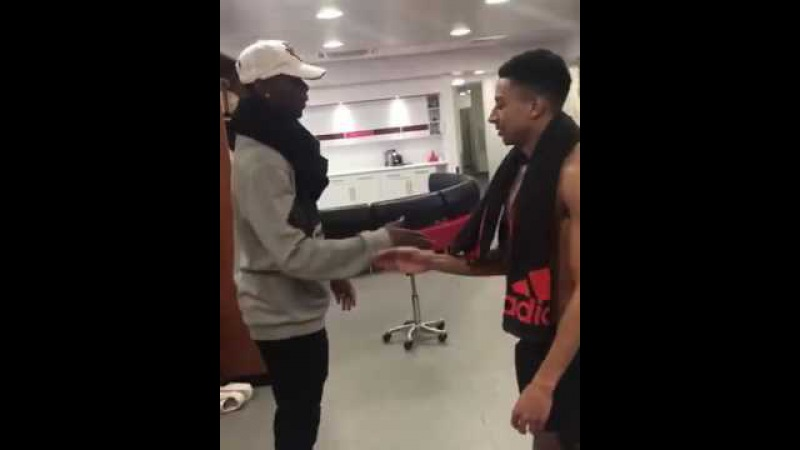 Paul Pogba And Jesse Lingard's New Football Celebration Dance!!
