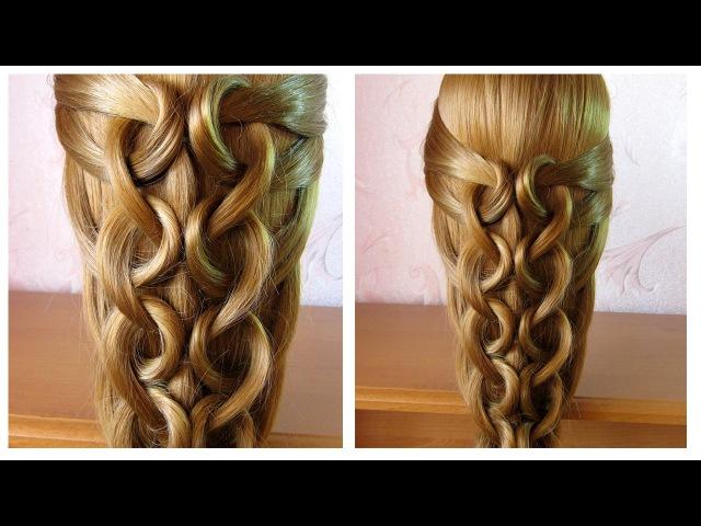 💜 Tuto coiffure facile et rapide cheveux long /mi long 💜 Сoiffure tresse simple