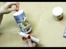 Декупаж ✿ Новогодняя свеча ✿ Napkin decoupage on a candle