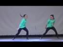 Танец 'Хватит учить - давай танцевать!' (hip-hop) - Соня и Ксюша Макиенко. Битва