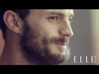Джейми Дорнан за кадром фотосессии для журнала ELLE UK 2014 (русские субтитры)