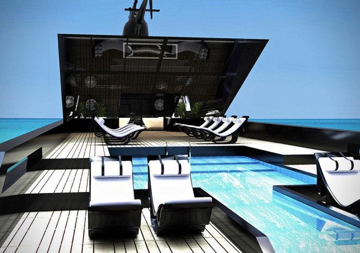 Мега-яхта Черный лебедь