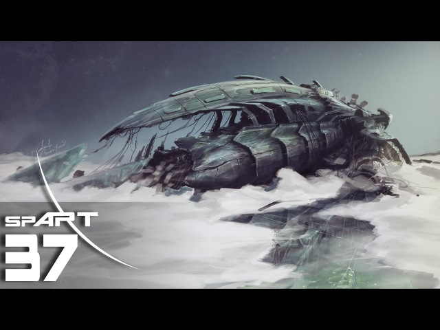 Crashed alien ship - SpeedPainting by spART