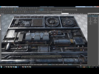 Paneling texture (Parallax occlusion mapping)