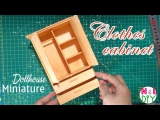 DIY Miniature Clothes Cabinet | How to make Clothes Cabinet for Dollhouse