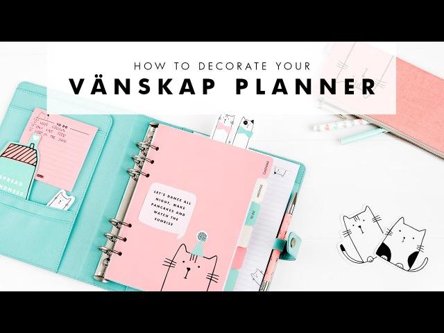 How to Organise Decorate your kikki.K Vänskap Planner