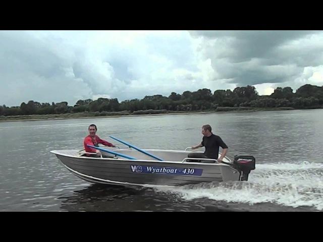 Wyatboat 430 c мотором 9,9 лс
