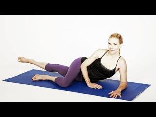 Тренировка ленивой девушки пилатес для внутренней части бедер. Lazy Girl's Inner-Thigh Pilates Workout