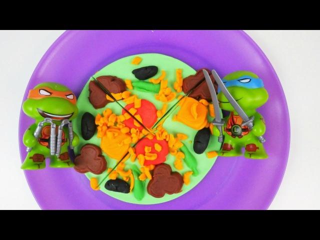 Türkçe izle kız erkek çocuk oyunları videoları Eren Ninja Kaplumbağalara pizza yapıyor