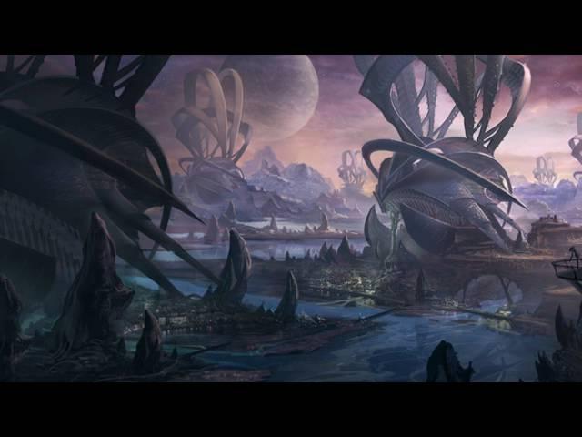 Инопланетные города. фантастические миры