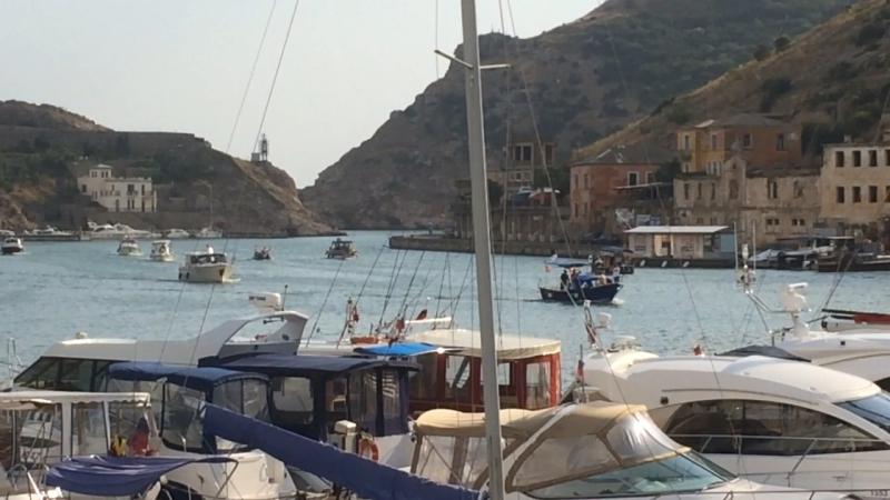 Вид из ресторана-корабля Принц в Балаклаве