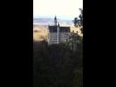 Вид с горы на замок Нойшванштайн Германия декабрь 2016
