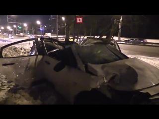 Видео с места аварии на Шоссе Энтузиастов в Москве