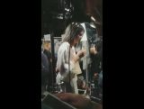 Kendall backstage at La Perla FW17