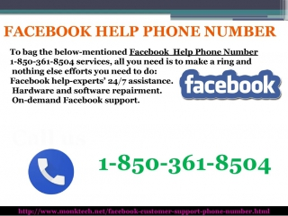 For Instant help, Dial Facebook Help Phone Number 1-850-361-8504