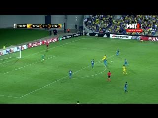 Лига Европы 2016-17 Группа D 1 тур Маккаби Тель Авив Израиль - Зенит Россия 2 тайм