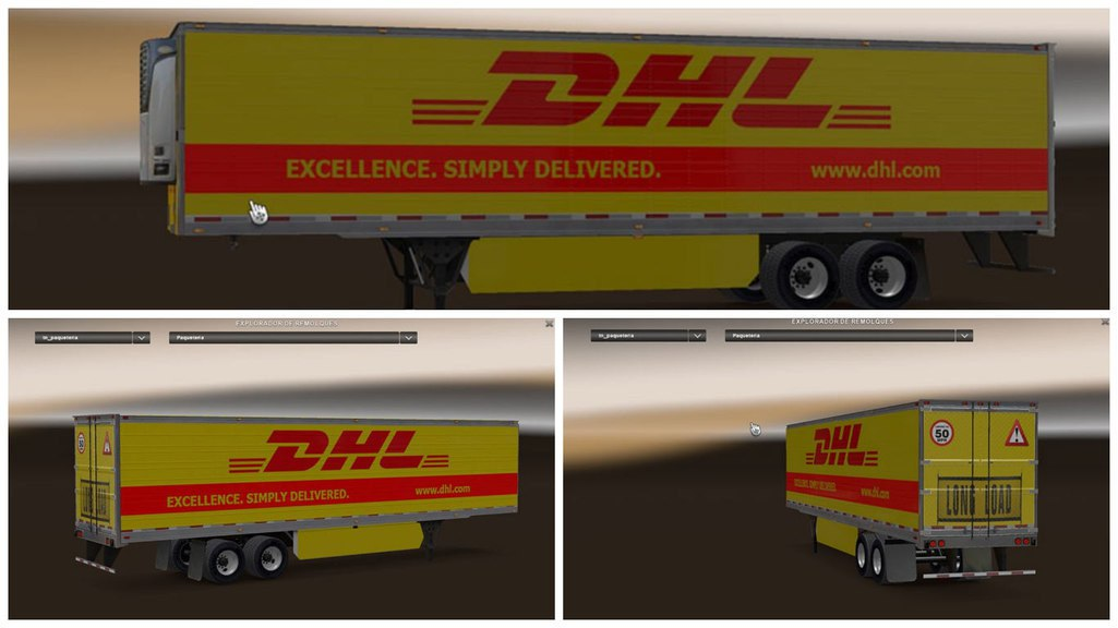 Мод прицеп ATS DHL Trailer Skin Mod by ROBOTIC
