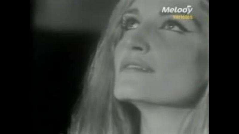 Dalida Hene ma tov Live Music Hall de France Première chaine 12021966 Почти А Capella SUPER
