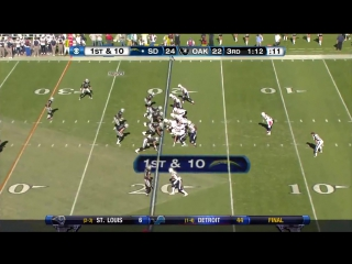 Chargers Raiders 2010 2nd Half