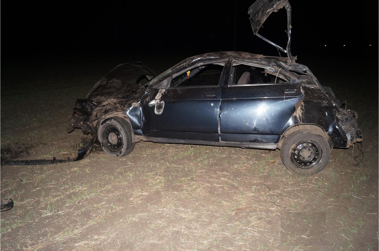 Ночью вКурской области «ВАЗ» опрокинулся вкювет: погибли два человека
