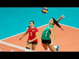 TOP 50 Best Women's Volleyball Spikes  3rd Meter Spikes  Surprise Attack  Powerful Spikes (HD)