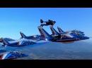 Полеты на реактивных ранцах с истребителями