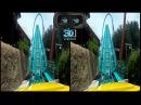 Google cardboard virtual reality 3D video Full HD - roller coasters | 3D видео американские горки