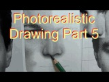 Photorealistic Pencil Drawing Tutorial of Leo Part 5 - How To Draw A Nose
